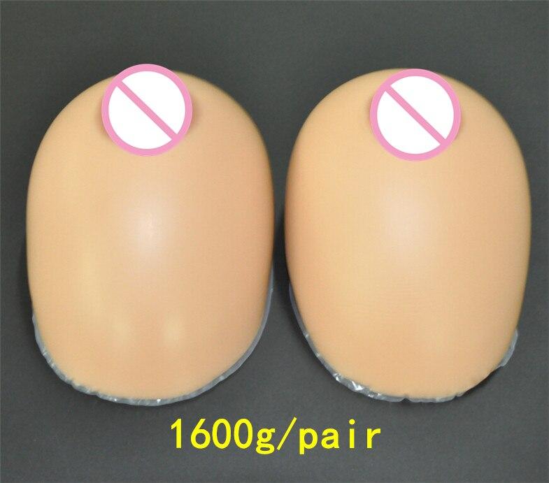 Travestido de mama de silicona formas 1600 g/par marrón tetas falsas Prótesis de mama Artificial