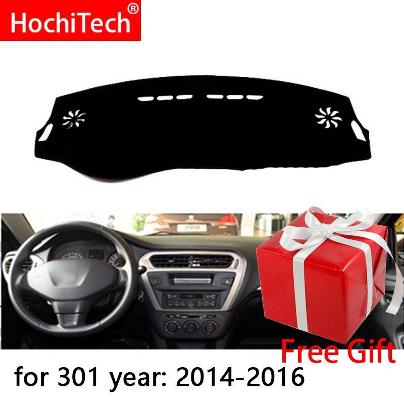 Para Peugeot 301 Citroen c-elysee 12-18 mano derecha e izquierda unidad cubiertas de salpicadero de coche Mat Shade Cushion Pad alfombras Accesorios