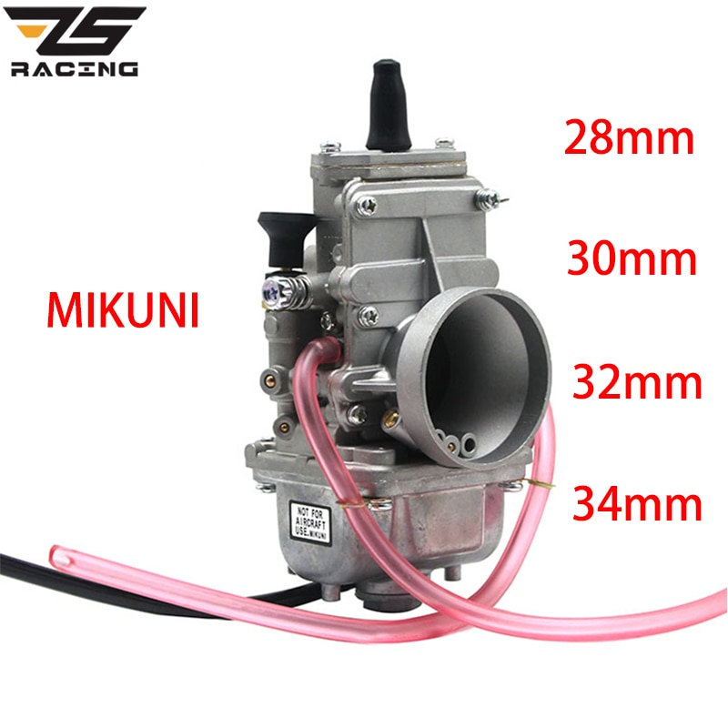 Zombis de la motocicleta de carreras MIKUNI 28mm 30mm 32mm 34mm 38mm TM28 TM30 TM32 TM34 TM38 carburador planas de ánima lisa para 2 T motor