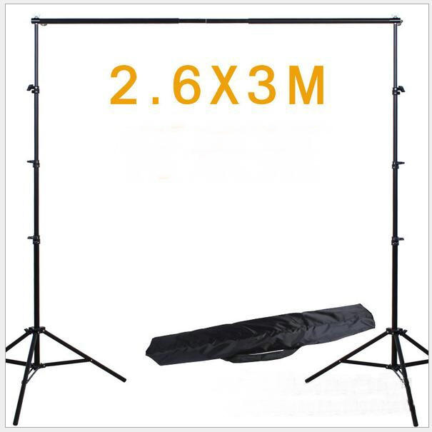 NOVO 2.6*3 M Fotografia Background Frame Sistema de Suporte Tripé para Suporte de Carga Ligh Fotografia tripé