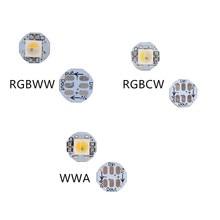 100pcs DC5V SK6812 WS2812B 5050 SMD White PCB Addressable Digital Heatsink Pre-RGB /RGBWW/ RGBCW/ WWA full color LED Chip Pixels