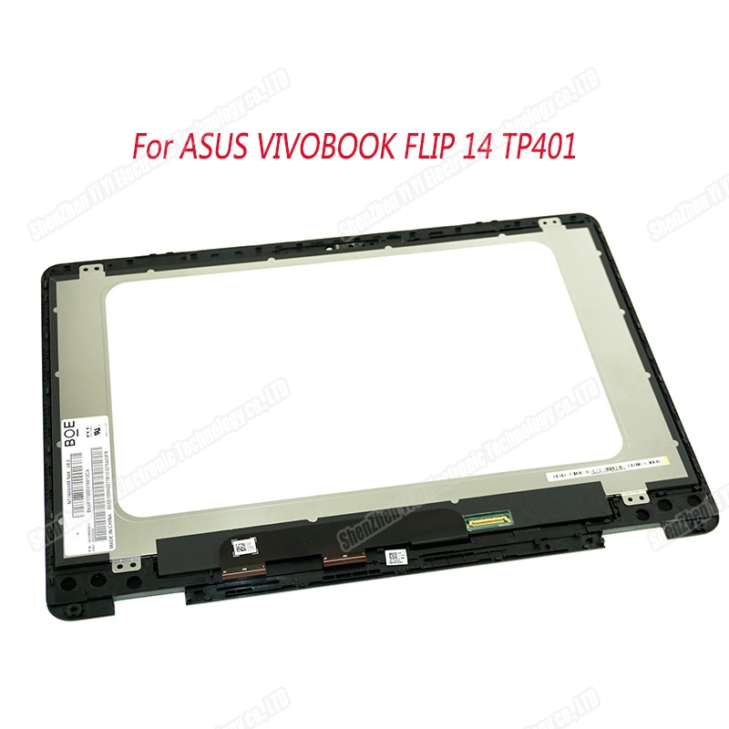 14'' For ASUS Vivobook Flip 14 TP401 TP401M TP401N LCD Display Touch screen Replacement matrix  NT140WHM-N44 1366*768