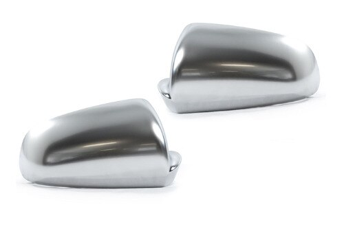 S-קו סגנון כסף מאט כרום צד מראה כובע החלפת L & R 2PCS עבור A6 C6 עבור a3 8P עבור A4 B7 עבור A4 B6