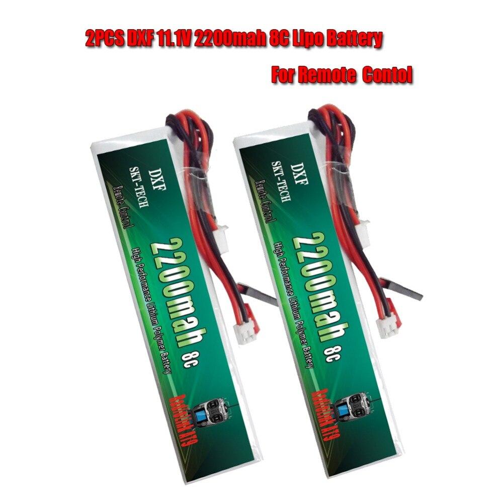 2 uds. DXF 3S RC Lipo batería 11,1 V 2200mAh 8C max 16C Akku batería para receptor transmisor