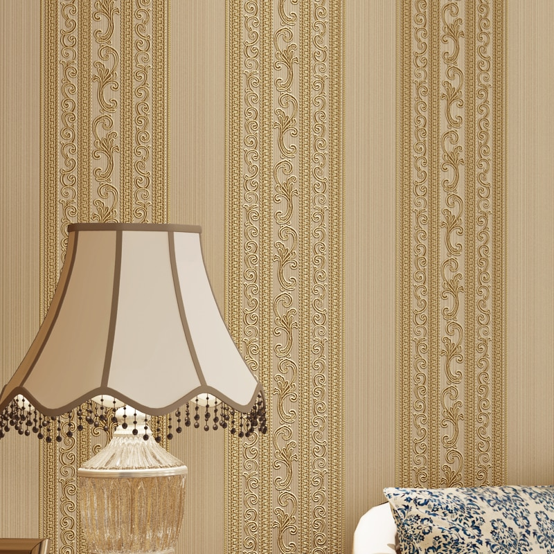 Modern Vertical Strip Home Decoration Wallpapers European Wall Paper Roll for Bedroom Living Room Walls Mural Contact