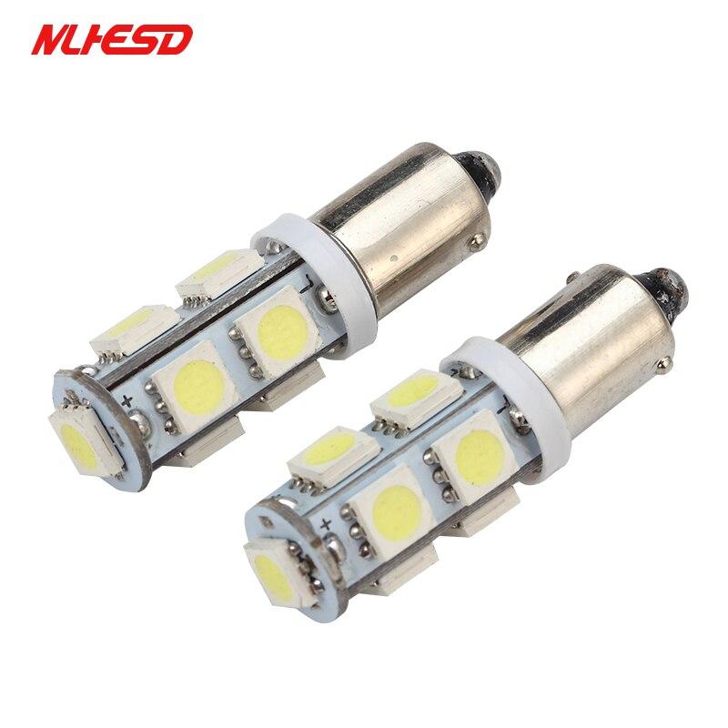 10 шт., автомобисветодиодный светодиодные лампы BA9S 9SMD 5050 LED 6523 1895 H6W T4W 9 светодиодный smd 5050