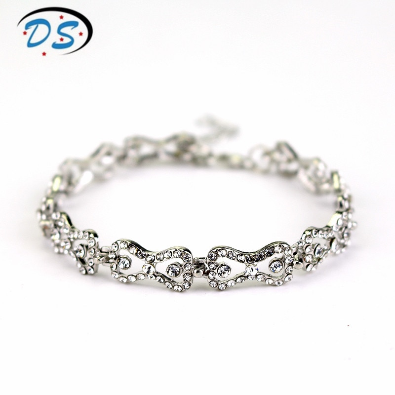 1 pc o vampiro diários charme pulseira strass brilhante arco corrente pulseira pulseiras uma pulseira para jóias femininas