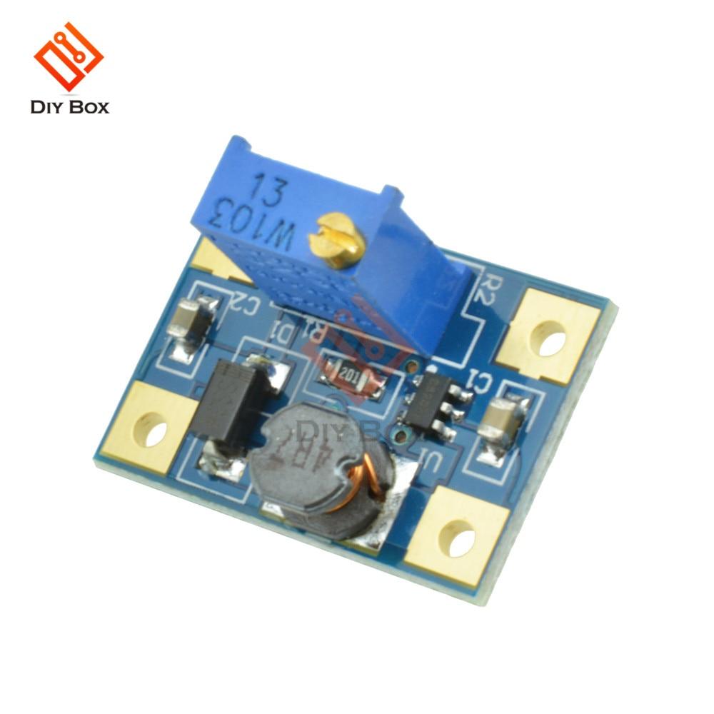 5 piezas DC-DC 2-24 V a 2-28 V 2A SX1308 paso ajustable-módulo de potencia tablero convertidor de aumento