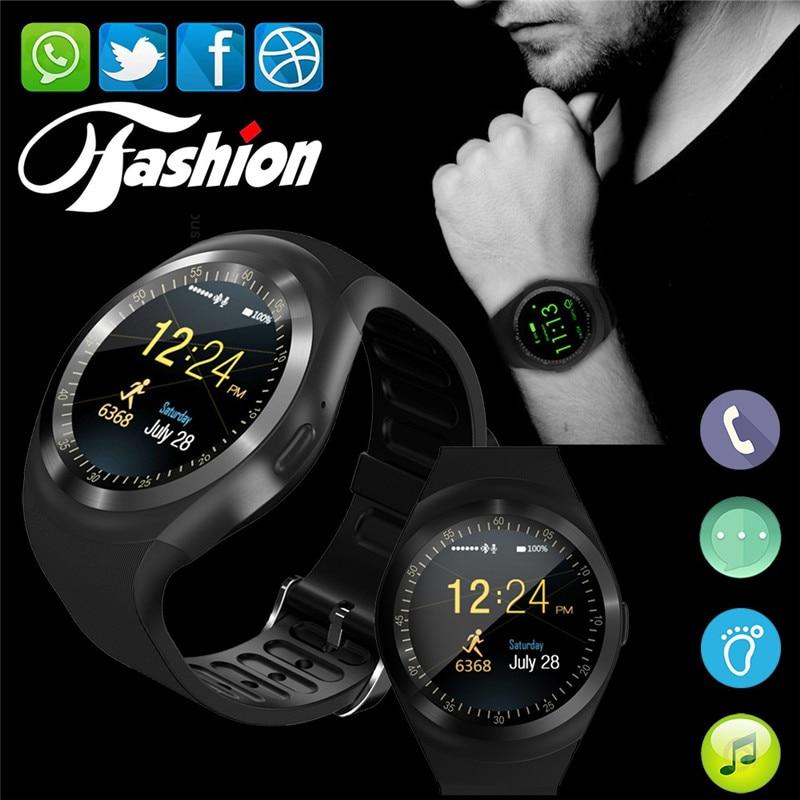 Смарт-часы Y1 с Bluetooth, умные часы на Android, поддержка Nano sim-карты и tf-карты, смарт-часы унисекс