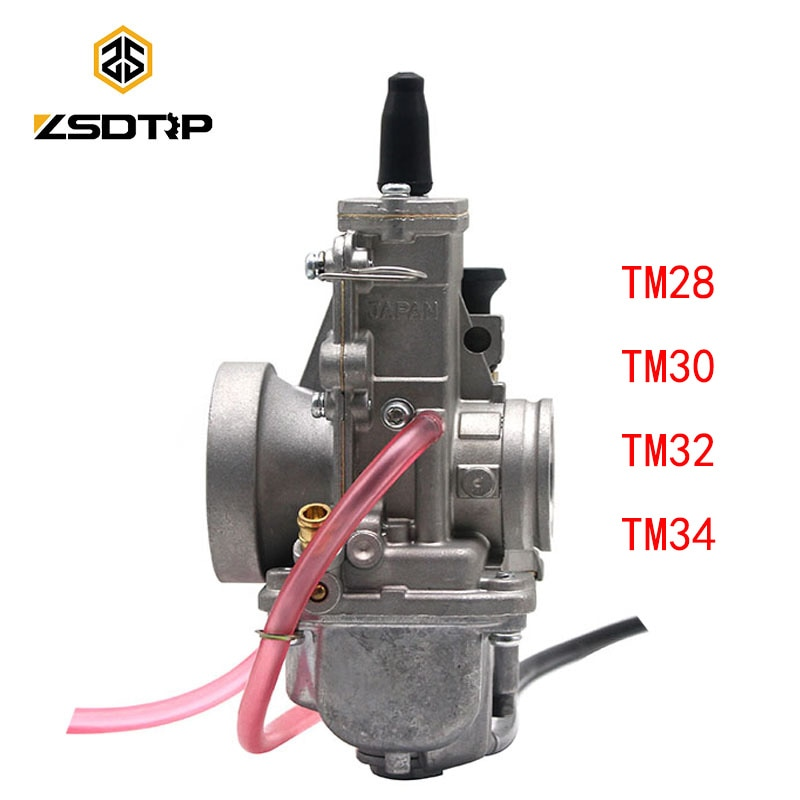 ZSDTRP Carburetor For Mikuni TM28 TM30 TM34 TM32 Flat Slide Smoothbore Carb TM34-2 for Honda 250 CR250 for Kawasaki KX125 150