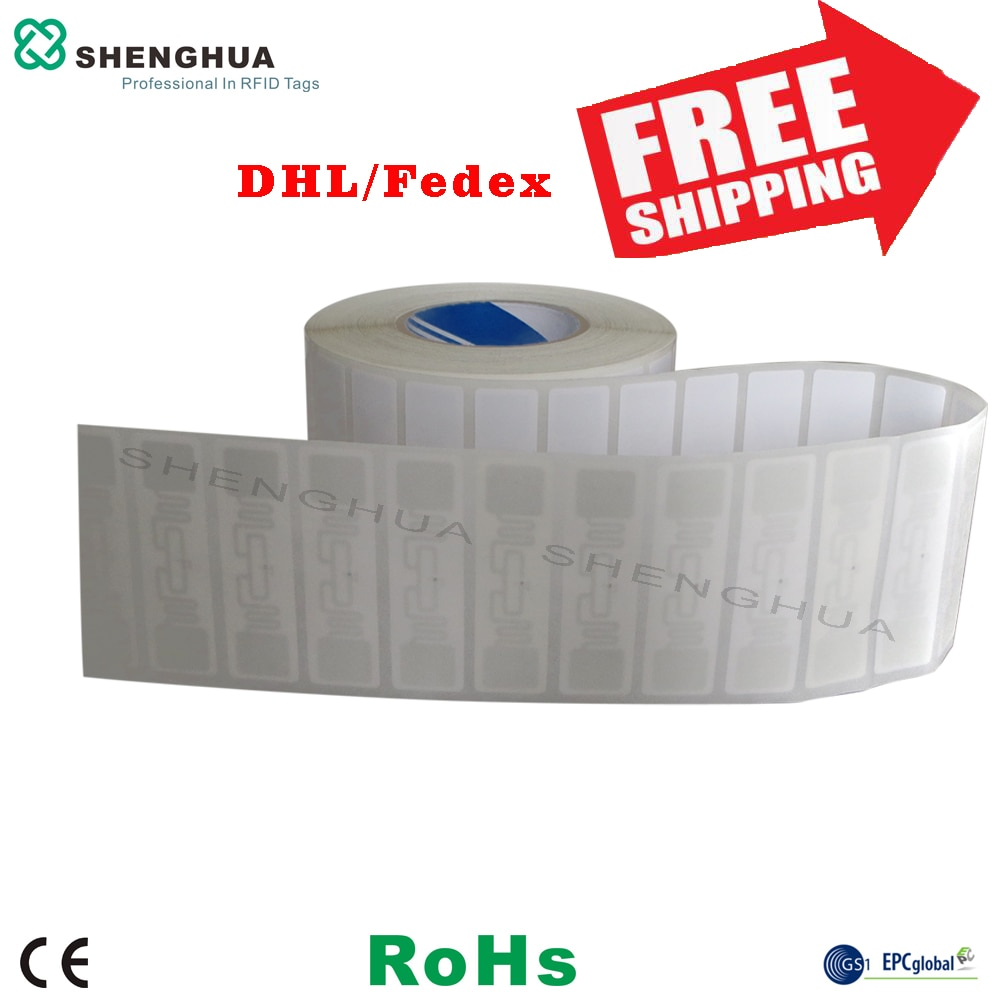 1000 Uds barato desechable pasivo Etiqueta RFID adhesivo seguimiento de activos etiqueta adhesiva RFID etiqueta de seguridad