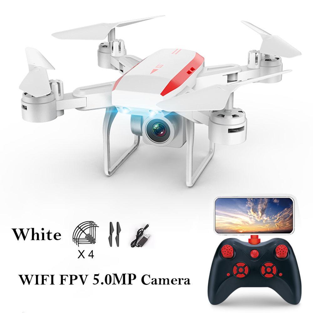 Control remoto inalámbrico FPV RC cuadricóptero de altura de Dron aéreo plegable modelo WiFi mapa 360 grados 3D flip 2,4 GHz aviones