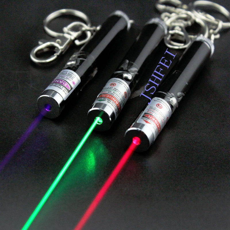 QIYING Mini lápiz puntero láser púrpura con llavero colgante juguetes de regalo al por mayor bolígrafo láser 405nm