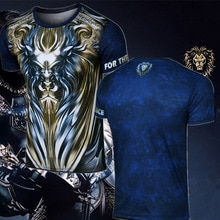 T-Shirt adulte jeu WoW Alliance LionT chemise pour hommes manches courtes col rond WOW King Ryan T-Shirt