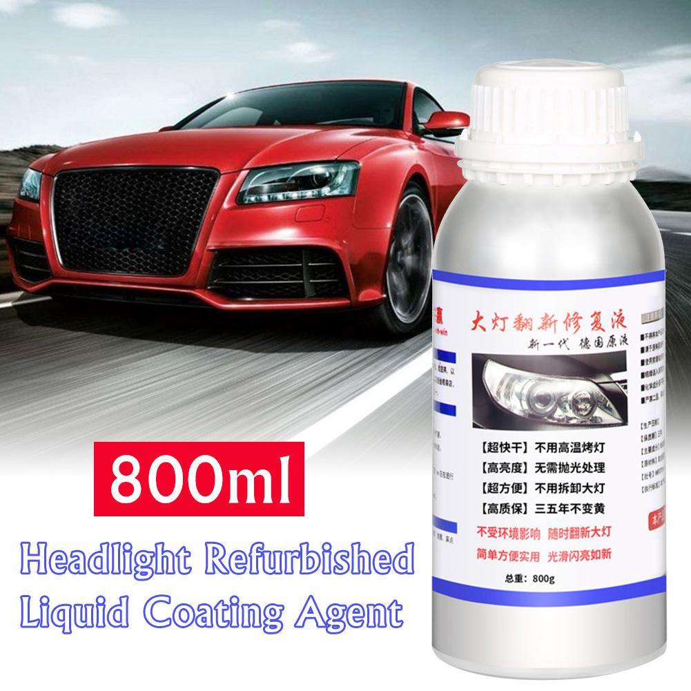 Kit de agente de restauración de faros de coche líquido de renovación de reparaciones de 800ML, agente de renovación de lámpara de rasguños