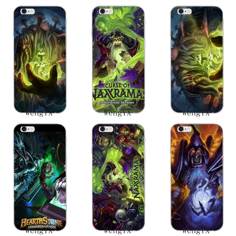 Héroe Hearthstone Naxxramas Slim suave de silicona teléfono funda para iPhone 4 4s 5 5S 5c iPhone 6 6s más 7 7plus 8 8 X