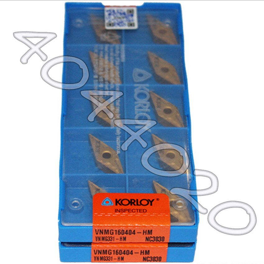 KORLOY VNMG160404-HM NC3030 VNMG331-HM NC3030 10 قطعة جودة السلع جديد الأصلي