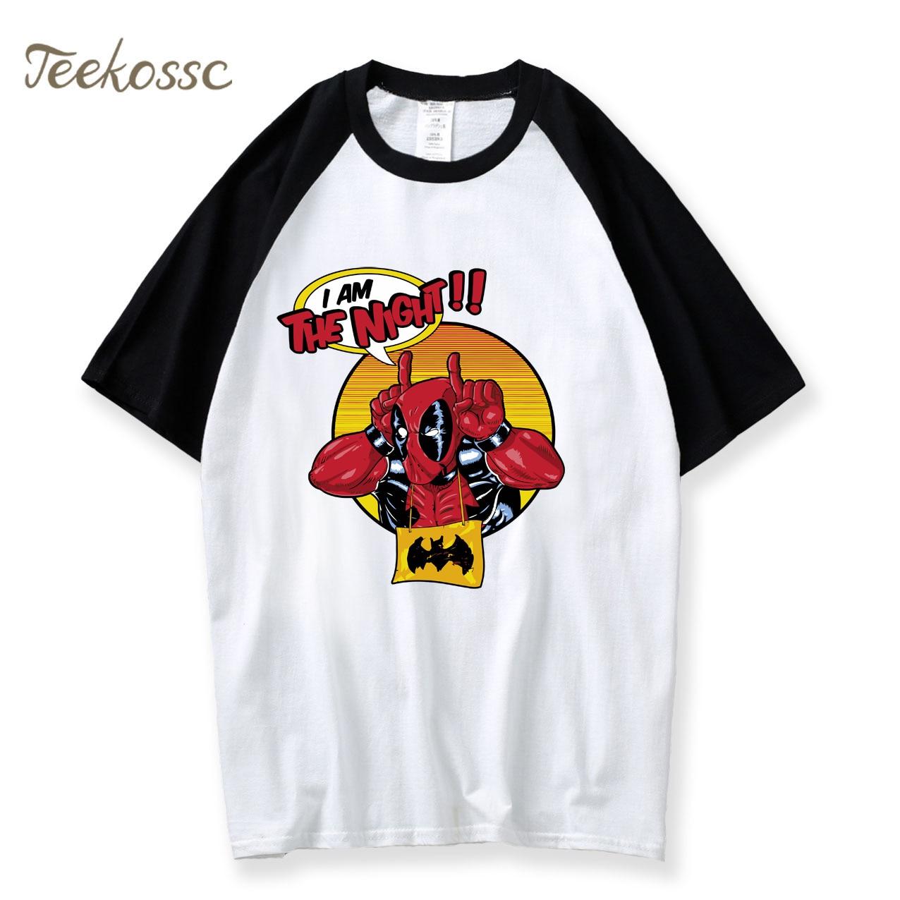 Camiseta Deadpool para hombre, camiseta divertida I Am The Night, novedad de 2020, camisetas de verano de cómic americano Badass, camiseta de piscina muerta, camiseta