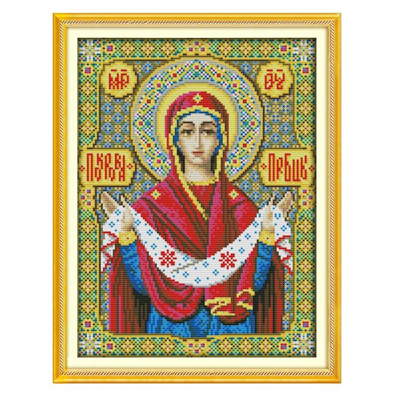 JoySunday cuenta kits de punto de cruz figura religiosa DMC14CT11CT tela salón dormitorio hotel deco pintura trato envío gratis