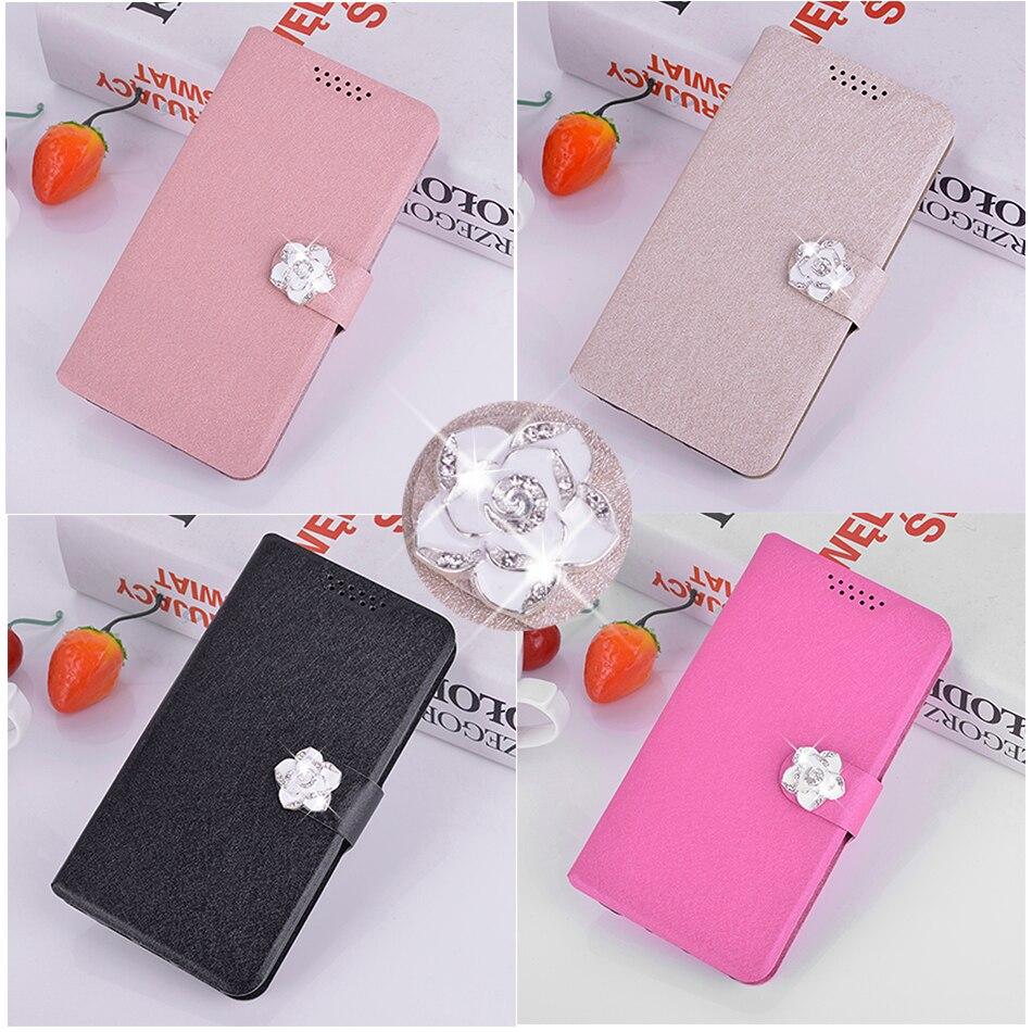 Шелковый кожаный чехол для Nokia 215 Asha 225 N225 216 Dual Sim/Lumia 150 230 Dual SIM роскошный чехол-кошелек с цветком для телефона