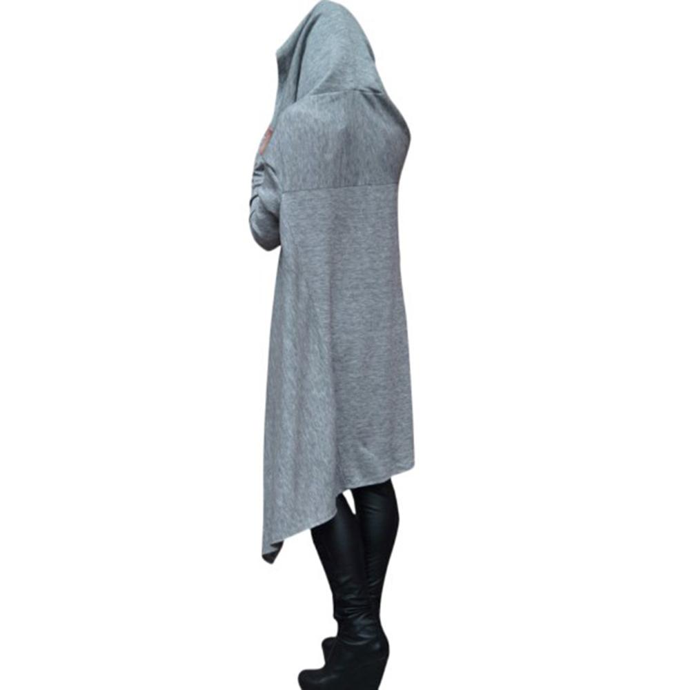 Preself Oversize Sweter Z Kapturem Bluza Kobiety Hoody Blaty Kobiet Luźna Z Długim Rękawem Płaszcz Z Kapturem Na Co Dzień Znosić Pokrywa Swetry Ubrania 7