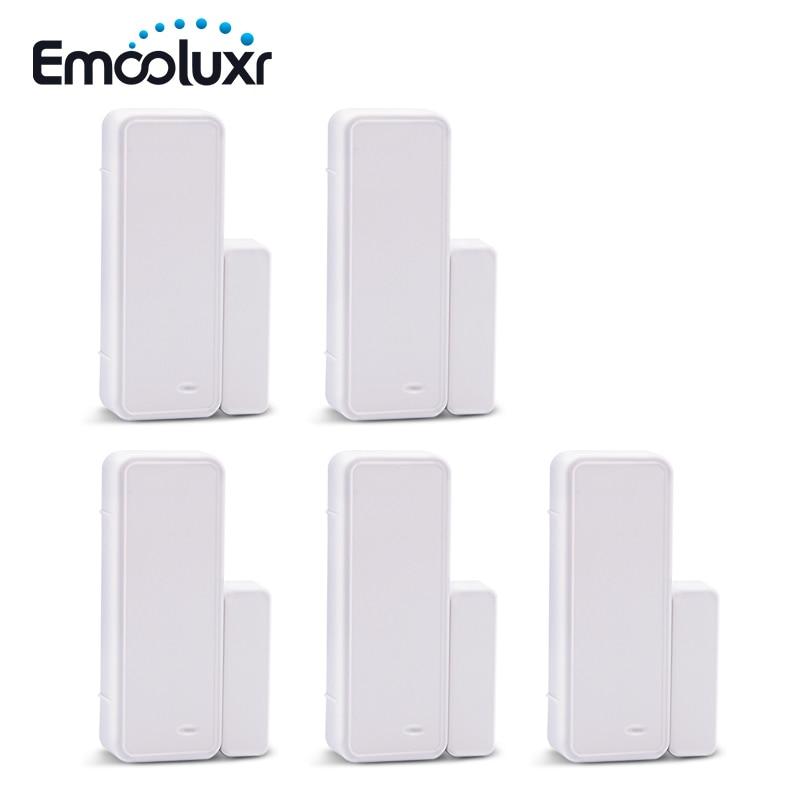 Sensor de puerta/ventana inteligente, inalámbrico, bidireccional, control por aplicación, wifi, para alarma...