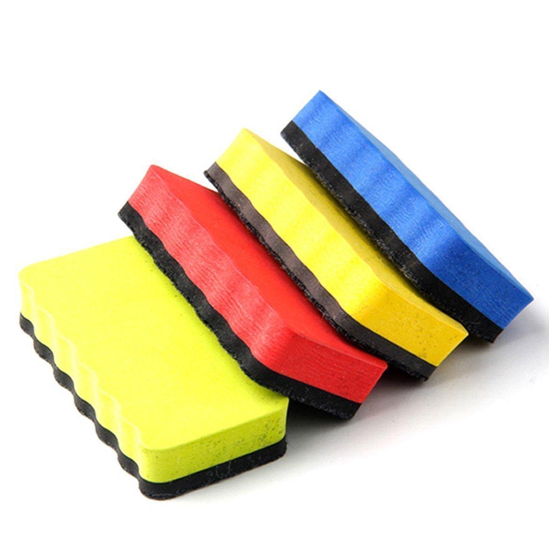SOSW-Nova placa Magnética Eraser Drywipe Marcador Cleaner Escritório Escola Whiteboard 4 PSC/LOTE