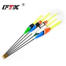 FTK Barguzinsky Fir Float 5Pcs/Lot Fishing Float Length 17.5cm-21.0cm Floating 1g 2g 3g Mix Color For Bottom Fishing Float