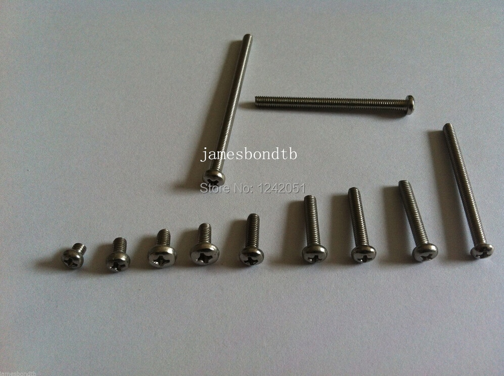 M3 * 12 mm de aço inoxidável 304 cruz recesso parafusos Phillips Pan