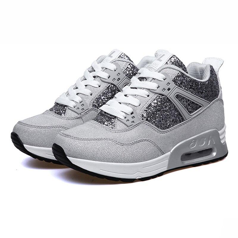 Zapatillas de deporte para mujer, zapatos informales aumentados de moda 2019, zapatillas de deporte resistentes al desgaste de tendencia, zapatos informales de plataforma para mujer NO.251