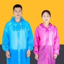 Abrigo para lluvia transparente de Mujeres para Hombres portátil de viaje al aire libre impermeable al agua desechable Camping con capucha Ponchos cubierta de lluvia de plástico