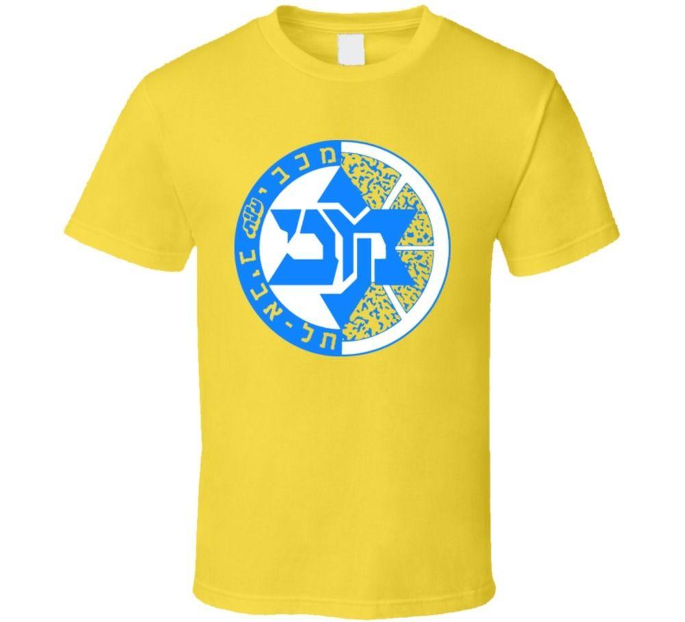 Maccabi Tel David Israel baloncesto fútbol judio T Shirt Cool Casual pride t shirt hombres Unisex moda camiseta