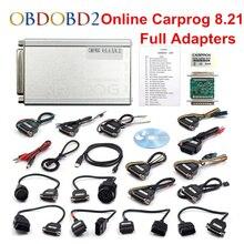 DHL outil de réparation automobile gratuit   CARPROG V10.93 ou V8.21 OBD2 ECU programmateur de voiture Prog 8.21 Version ligne 10.93 avec 21 adaptateurs