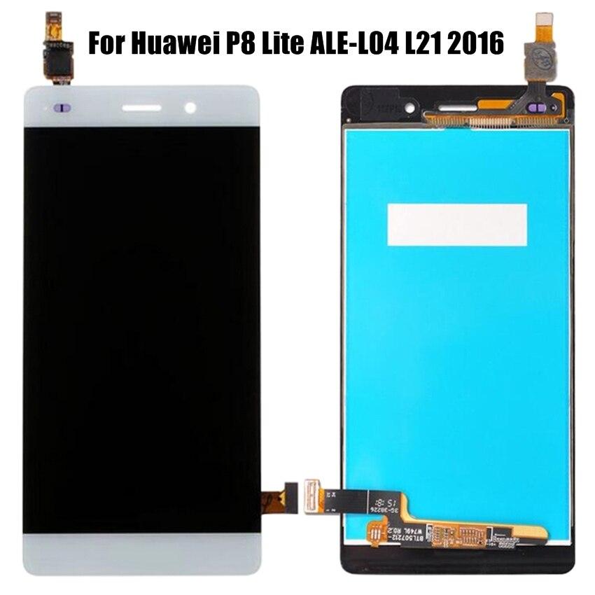 Para Huawei P8 Lite ALE-L04 L21 2016 pantalla LCD + MONTAJE DE digitalizador con pantalla táctil reemplazo del digitalizador de pantalla táctil