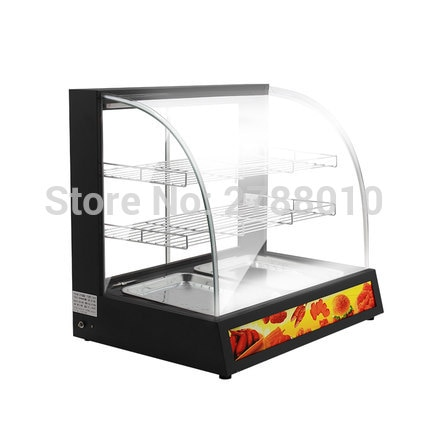 Коммерческий термошкаф для приготовления пищи, витрина для сохранения тепла, вместительный шкаф для хранения