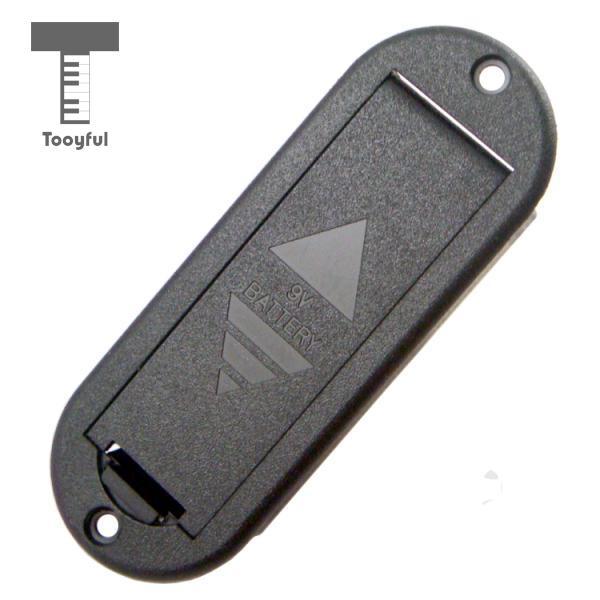 Tooyful, funda de batería de 9 V, partes del compartimiento de la caja para pastillas de guitarra activa/bajo