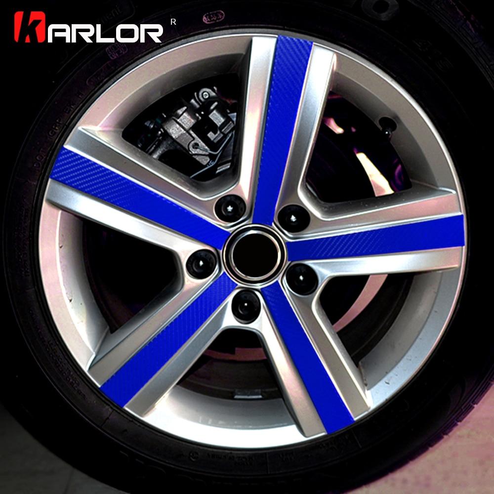 4 Pcs/set Carbon fiber Scratch Protection Film Wheel Hub Rim Car Styling Sticker Decal For VW Volkswagen Golf 7 MK7 Accessories