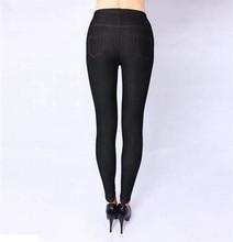 Printemps et automne Style haute qualité femmes leggings Super élastique Denim doux et respirant 115kg 5XL grande taille pantalons pour femmes