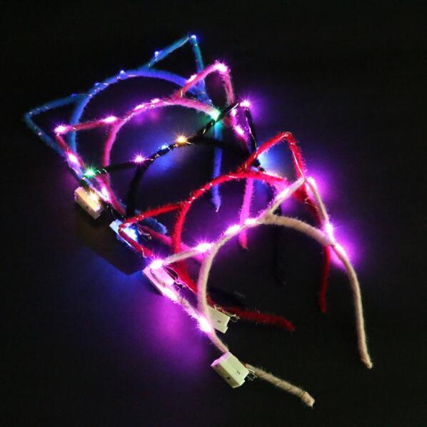 Светодиодсветодиодный подсветильник ка с кроличьими ушками кошачьими ушками для вечевечерние
