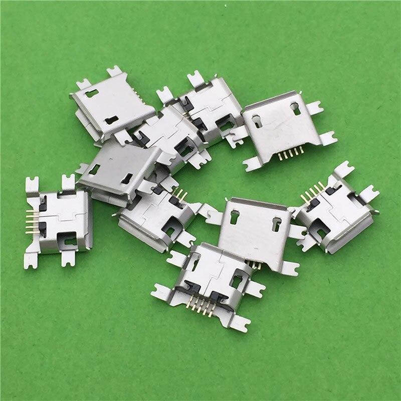 20 шт./лот, разъем Micro USB SMD, 5pin гнездовой разъем, 4 фута, широко используется в планшете, телефоне, PDA, зарядке