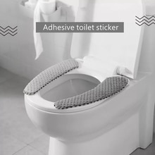 Nordic Thickened Toilet Seat Covers Soft Toilet Lid Cover Universal Winter Closestool Mat Bathroom Lavatory Cushion Toilet Set