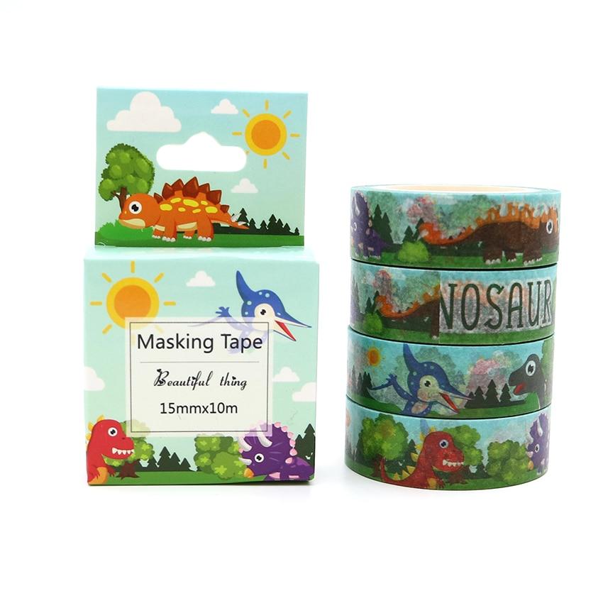Box Paket Kawaii Dinosaurier Washi Band Hervorragende Qualität Bunte Papier Masking Tape DIY Dekorative Bänder 10 mt * 15mm