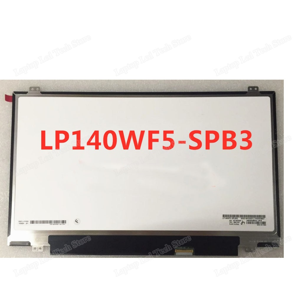 LP140WF5-SPB3 de pantalla LED LCD para ordenador portátil Full HD de 14,0 pulgadas para Lenovo ThinkPad T460s IPS FHD pantalla táctil LP140WF5(SP)(B3)