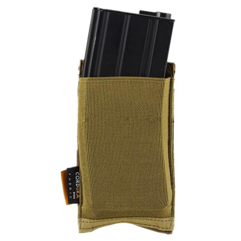 Bolsa de revista tactical molle Cordura MOLLE bolsa simple mag (Coyote marrón follaje verde BK ACU MC) bd2386