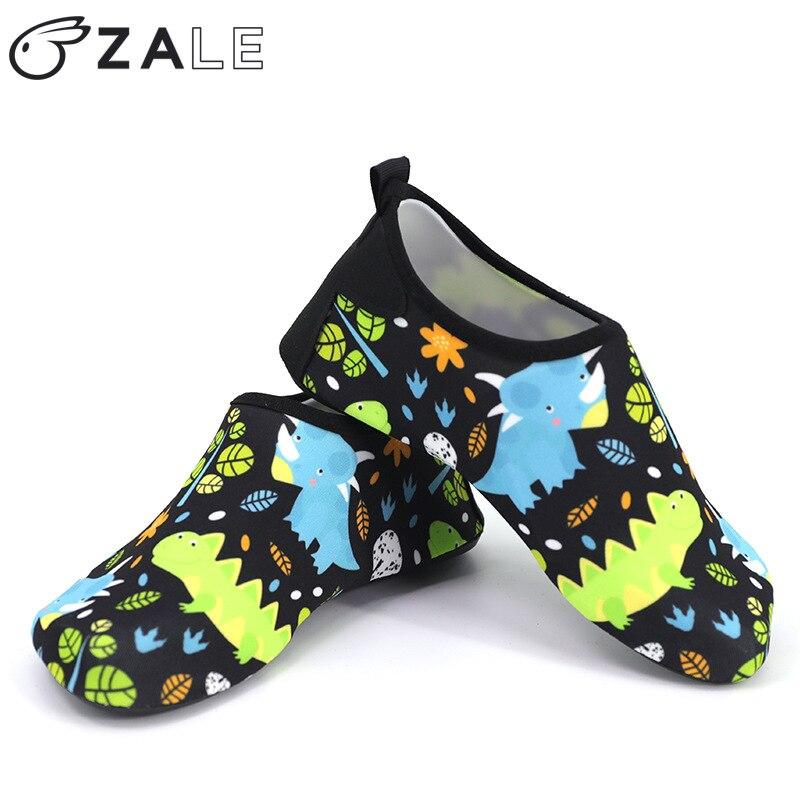 Zapatos de playa de verano niños monstruo de dibujos animados patrón zapatos para nadar niñas niños descalzos Fondo suave antideslizante niños zapatos de agua