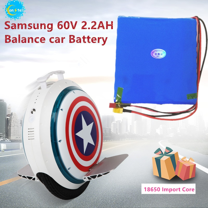 Fabricante para Corea Samsung 18650 60V 2200mAH 132Wh Paquete de batería de coche de equilibrio monociclo auto carectrico 2.2AH batería de alimentación