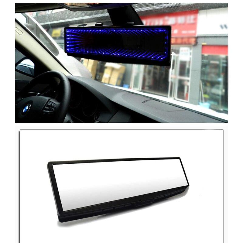1 pces grande visão deluxe anti-reflexo à prova de carro interior espelho retrovisor ângulo panorâmico anti-deslumbrante espelho retrovisor com luz