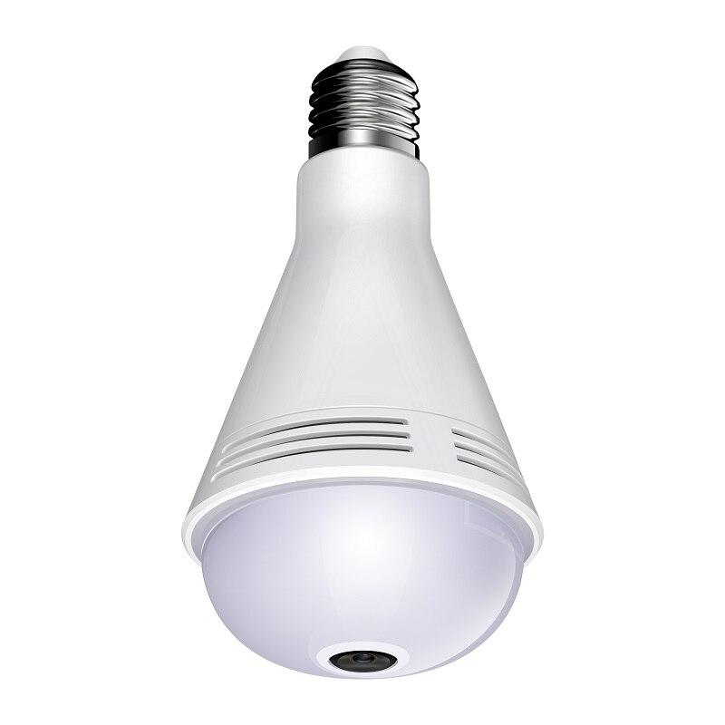 960P XM Intellingent cámara de vigilancia panorámica música bombilla Cámara E27 bombilla LED Intellingent lámpara de control inalámbrico