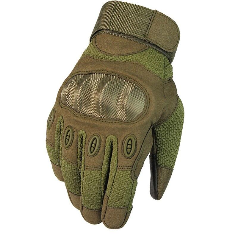Nuevo guante táctico militar para pantalla táctil Paintball Airsoft, guantes de combate para bicicleta, motocicleta, nudillo duro, dedos completos