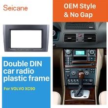 Seicane-autoradio Double Din   Fascia 2004-2013, Volvo XC90, panneau DVD, garniture de tableau de bord, adaptateur de montage Audio, garniture stéréo de voiture